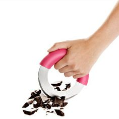 Easily chop herbs, chocolate, veggies and more with the uniquely shaped and fun to use Chop Round...
