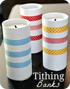More ideas for Washi tape!  Blue Skies Ahead: Tithing Family Home Evening (The Parable of the Skittles)