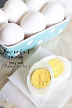 How to Boil an Egg...this easy and fail proof method will give you perfect hard boiled eggs every time!!