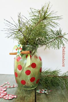 DIY Christmas Vase