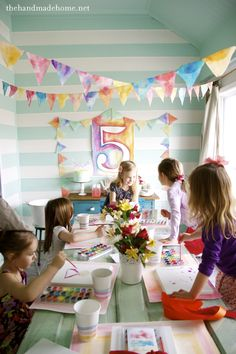 watercolor party | the handmade home