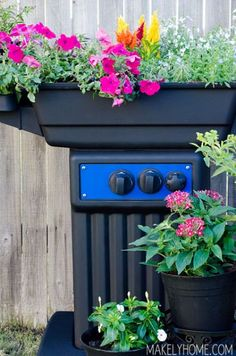 Upcycle an old, broken BBQ grill into an awesome Planter