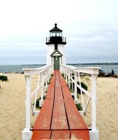 Brant Point Lighthouse, Nantucket, #Massachusetts // Beautiful Islands Around the World