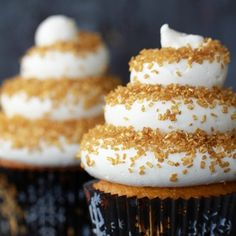 Eggnog Cupcakes with a Spiced Rum Buttercream