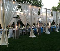 These outdoor drapes are stunning! Major WOW factor!