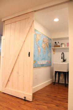 how to build a barn door...