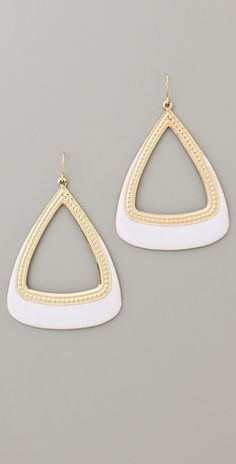 Gold & Enamel Drop Earrings