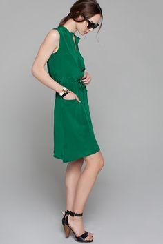 Short Sleeveless Keyhole Dress - Emerson Fry