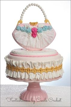 Fashion Lace Purse Cake