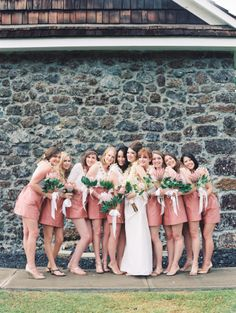 Love this bridesmaid look: http://www.stylemepretty.com/2014/10/03/tropical-destination-wedding-in-maui/   Photography: Wendy Laurel - http://www.wendylaurel.com/