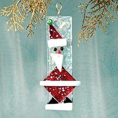 Fused Glass Santa Claus Ornament in Holiday 2012 from Uno Alla Volta