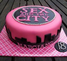 SATC Cake thoughts, galleries, bachelorette parties, cake idea, cakes, citi cake, parti idea, people, the city