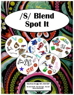 /S/ Blend Game - Spot and Say. Repinned by SOS Inc. Resources. Follow all our boards at http://pinterest.com/sostherapy for therapy resources.