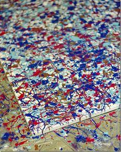 DIY Jackson Pollock-style Canvas  tutorial