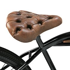 Chesterfield bike saddle...looks comfortable!!! epitaph, bicycles, bike saddl, chesterfield bike, cruiser bikes, leather, contemporary design, vintage style, bike seat