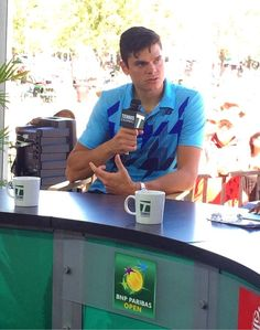 Milos Raonic on the @Lauren Davison Leveque Channel set after his big win over Andy Murray.