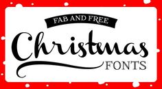 christmas fonts - Click image to find more Holidays & Events Pinterest pins