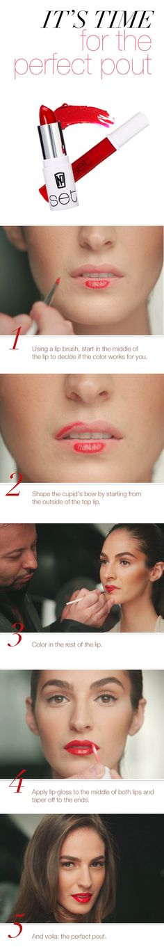 Master the perfect pout with this step-by-step guide by beauty guru Napoleon Perdis. Click for the full video tutorial!