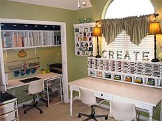 the doors, idea, organ, dream, scrapbooking rooms, scrapbook rooms, craftroom, closet space, craft rooms