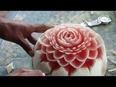 Fruit Carving Demonstration 07 by Mr. Koy Touch- This is absolutely  Beautiful!