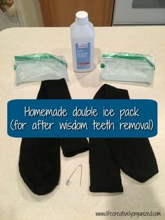 How to make a homemade ice pack for after wisdom teeth removal. Easy to make with items you already have. Your sore face (& the tooth fairy) will thank you! #wisdomteethrecovery #lifecreativelyorganized #wisdomteeth #icepack #soreface