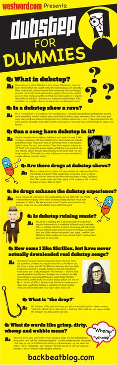 Dubstep for Dummies, a primer for newly-minted dubstep fans (infographic)