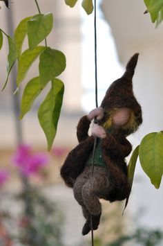 Needle felted Waldorf Wool MobileClimbing by darialvovsky on Etsy, $28.00