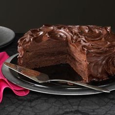 Triple Layer Brownie Cake Recipe from Taste of Home -- shared by Barbara Dean of Littleton, Colorado