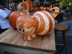 Cheshire Cat Pumpkin Art