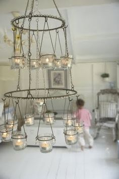 Jar Candle Chandelier