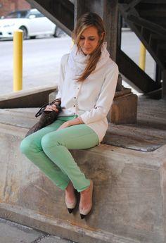 Zara top, Old Navy scarf, BDG jeans, Ann Taylor flats