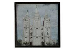 DIY 12 x 12 SL Temple Plaque.  Only $16.50.