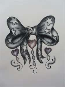 Ribbon Bow With Heart Detail