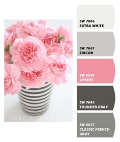 wedding color idea  pink and grey