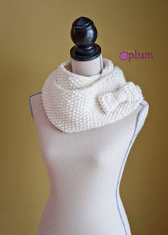 Infinity Scarf with Bow by thetinyplum on Etsy, $50.00