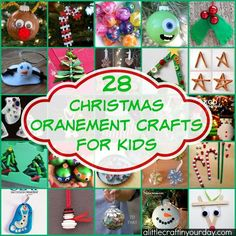 28 Christmas Ornament Crafts For Kids! Perfect ideas for memories to last a lifetime!