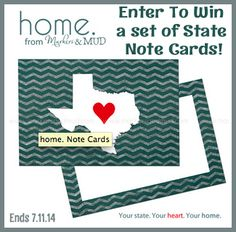 State Note Cards and Personalizrd Cards Giveaway from @markersandmud Ends 7.11.14 #RWMevent