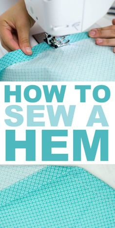Hemming may be the most common technique needed in sewing. So in  this post, I am going to completely break down how to sew a hem that is  perfect every time. #sewing #sewingideas  #sewingprojects #easysewingideas #sewingprojectsforbeginners  #sewingforbeginners #sewingprojectsforteens #easysewingideas
