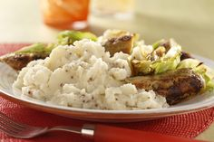 This main course dish combines healthier chicken sausage with cabbage and fluffy mashed potatoes that get a flavor boost from whole grain mustard. Get recipe here: http://idahoan.com/recipes/cabbage-sausage-and-mustard-mashed/