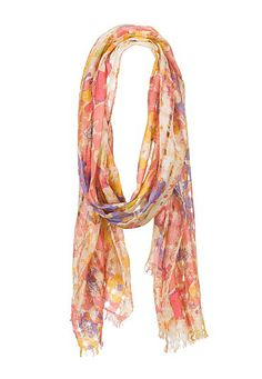Floral print open stitch scarf (original price, $14) available at #Maurices