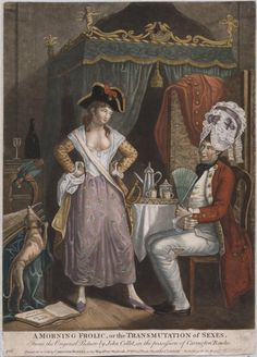 'A morning frolic or the transmutation of sexes' ~ proof of 18th-century cross-dressing. #GenderBenders Leah Marie Brown, Titillating Tidbits about the Life and Times of Marie Antoinnette http://leahmariebrownhistoricals.blogspot.com