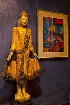A Thai Buddha statue greet you at the living room at 29 Ceylon Lane guest house. Photo by Ang Soon Keat