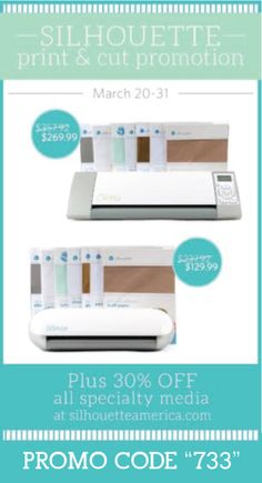 Silhoutte Print & Cut Promo & GIVEAWAY - ENDS 3/25