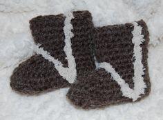 Free #crochet #patterns - Crochet Baby Uggs Free -Crochet baby shoes