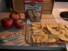 Apple Dump Cake #recipe