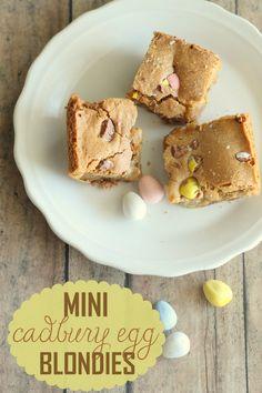 Mini Cadbury Egg Blondies