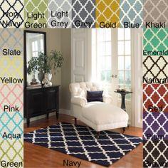 Hand-hooked Alexa Moroccan Trellis Wool Rug (5' x 8') | Overstock.com