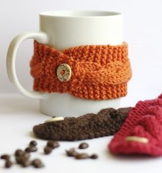 DIY Cup Cozy for the Tea or Coffee Drinker - Free Knitting Pattern