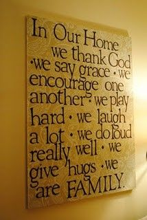 In Our Home we thank God...