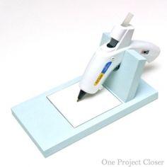Make your own glue gun holder